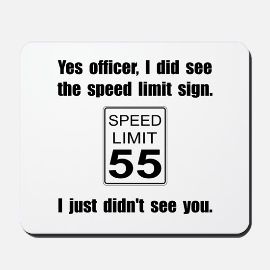 Speed Limit Black.png Mousepad