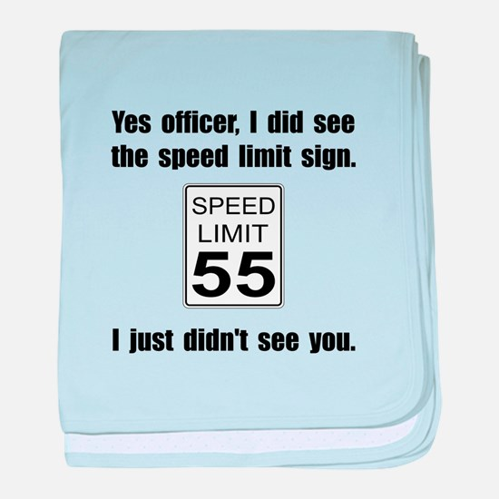 Speed Limit Black.png baby blanket