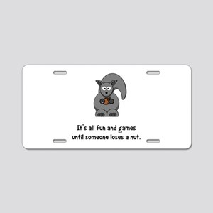 Squirrel Nut Black Aluminum License Plate