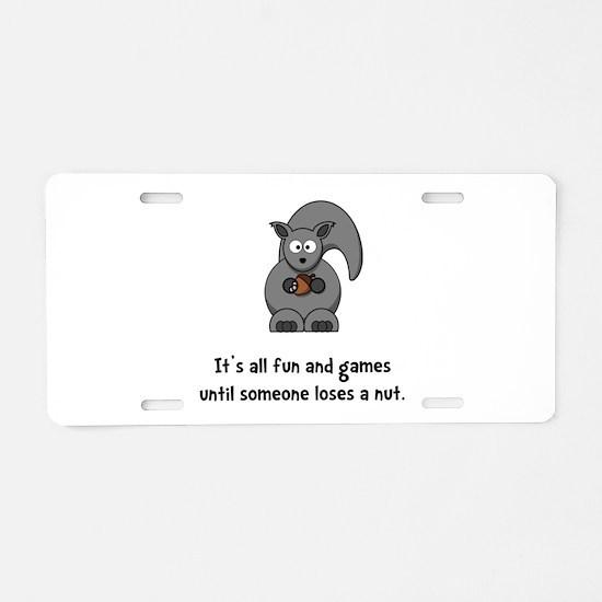 Squirrel Nut Black.png Aluminum License Plate