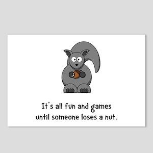 Squirrel Nut Black Postcards (Package of 8)