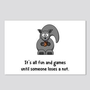 Squirrel Nut Black.png Postcards (Package of 8)
