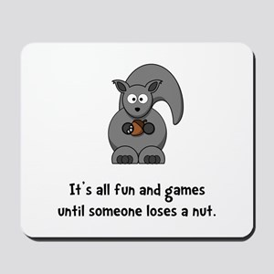 Squirrel Nut Black Mousepad