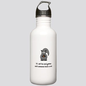 Squirrel Nut Black Stainless Water Bottle 1.0L