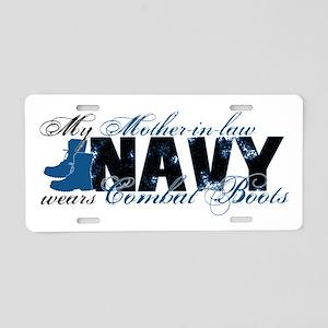 Mother Law Combat Boots - NAVY Aluminum License Pl