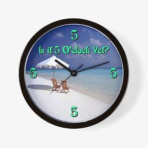 5 Oclock Yet? Lounging Wall Clock
