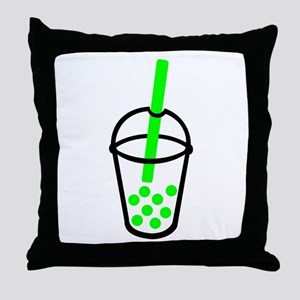 Bubble Tea Throw Pillow