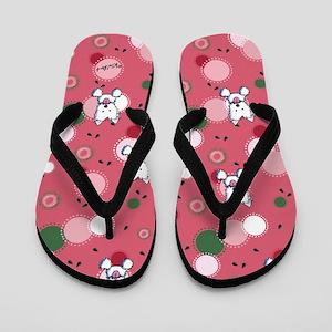 KiniArt Watermelon Westie Flip Flops
