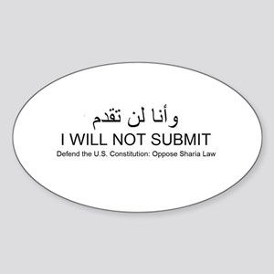I will not submit Sticker (Oval)