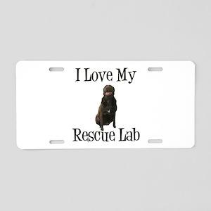 Rescue Lab Aluminum License Plate