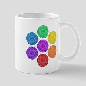 seven chakras circle bold Mug