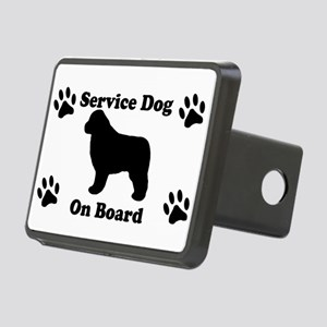 Newfoundland Service Dog Rectangular Hitch Cover