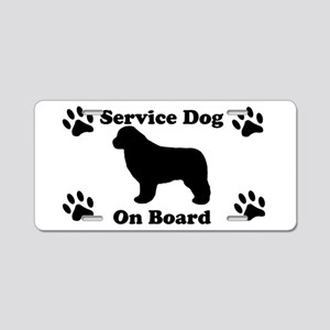 Newfoundland Service Dog Aluminum License Plate