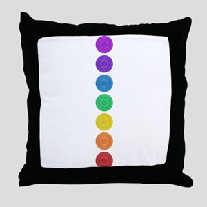 seven chakras circle bold Throw Pillow