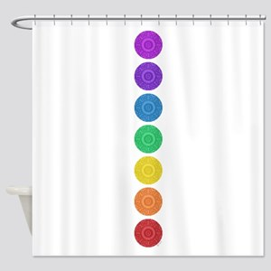 seven chakras circle bold Shower Curtain