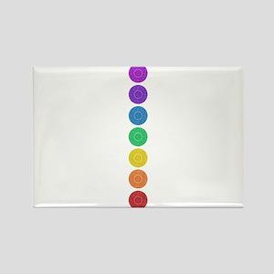 seven chakras circle bold Rectangle Magnet