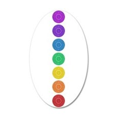 seven chakras circle bold 22x14 Oval Wall Peel