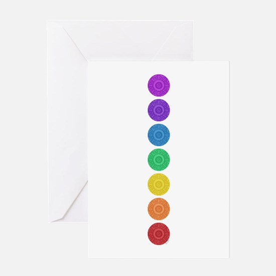 seven chakras circle bold Greeting Card