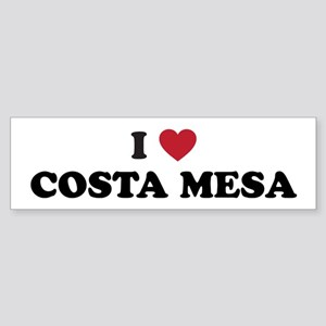 I Love Costa Mesa Sticker (Bumper)