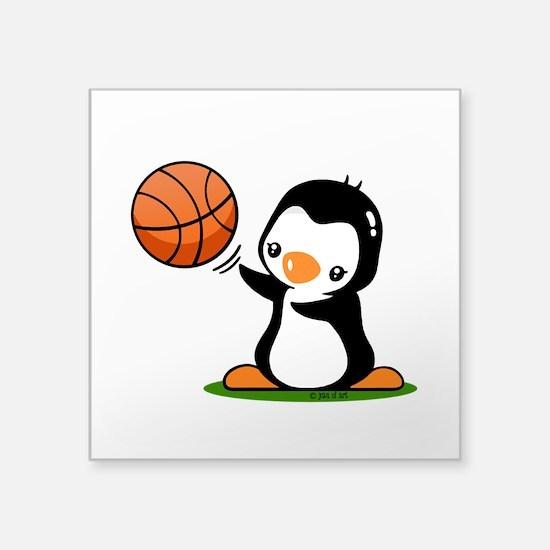 "I Like Basketball Square Sticker 3"" x 3"""