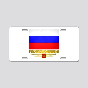 Russian Federation (Flag 10)2 Aluminum License
