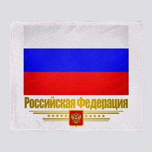 Russian Federation (Flag 10)2 Throw Blanket
