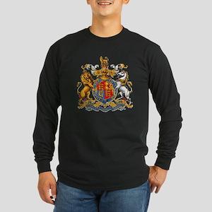 Royal Coat Of Arms Long Sleeve Dark T-Shirt