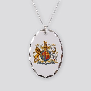 Royal Coat Of Arms Necklace Oval Charm