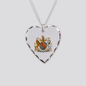 Royal Coat Of Arms Necklace Heart Charm