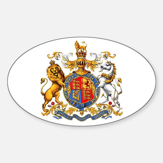 Royal Coat Of Arms Sticker (Oval)