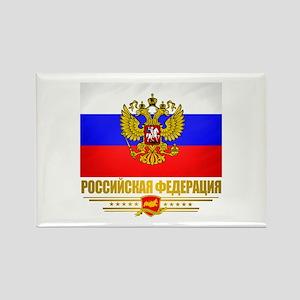 Russian Flag COA Rectangle Magnet