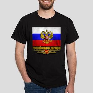 Russian Flag COA Dark T-Shirt