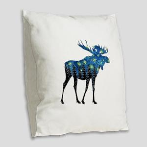 NORTHWOODS SUMMER NIGHT Burlap Throw Pillow