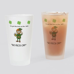 Luck of the irish Drinking Glass