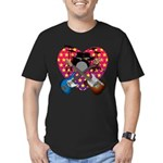 Power trio2 Men's Fitted T-Shirt (dark)