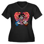 Power trio2 Women's Plus Size V-Neck Dark T-Shirt