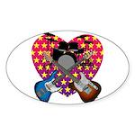 Power trio2 Sticker (Oval)