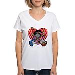 Power trio2 Women's V-Neck T-Shirt
