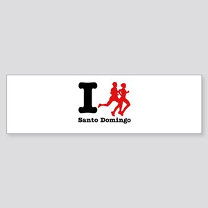 I Run Santo Domingo Sticker (Bumper)