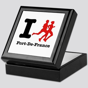 I Run Fort-De-France Keepsake Box