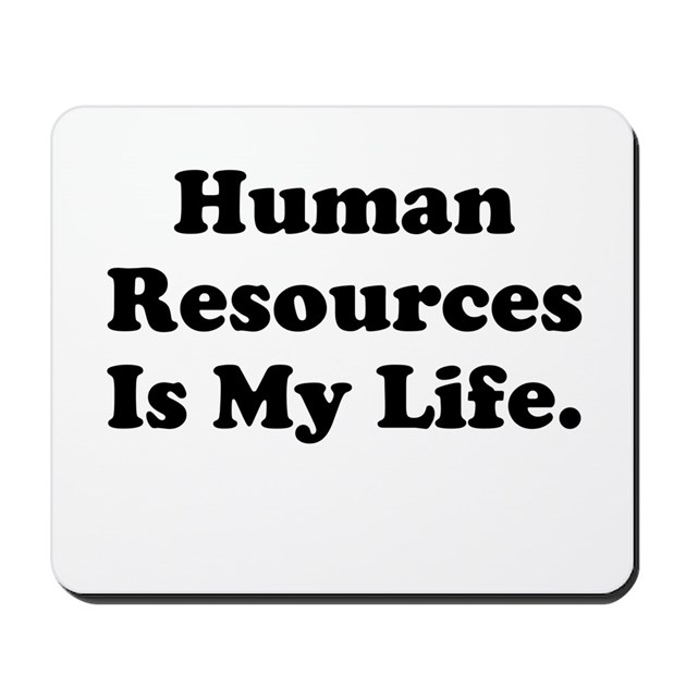 Human Resources Manager or Worker Mousepad by OfficeCelebrity