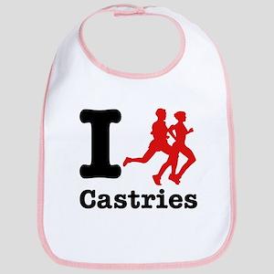 I Run Castries Bib