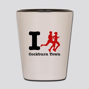I Run Cockburn Town Shot Glass