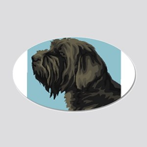 Wirehaired Pointing Griffon 22x14 Oval Wall Peel