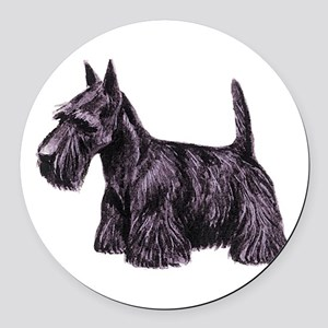 dover scottie Round Car Magnet