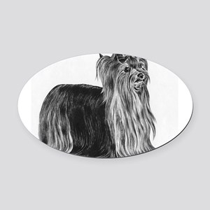 Yorkshire Terrier Oval Car Magnet