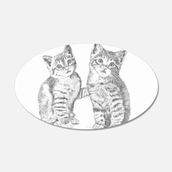 Tabby kittens Wall Decal