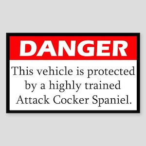 Danger Cocker Spaniel Sticker