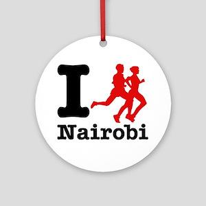 I Run Nairobi Ornament (Round)