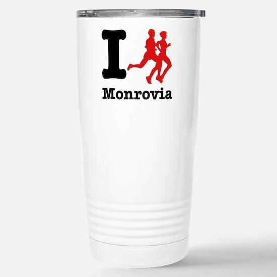 I Run Monrovia Stainless Steel Travel Mug